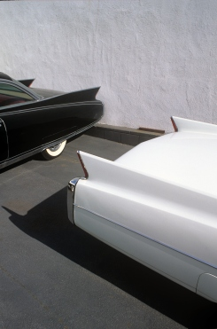 Cadillac Fins, Classic Car lot, Hollywood