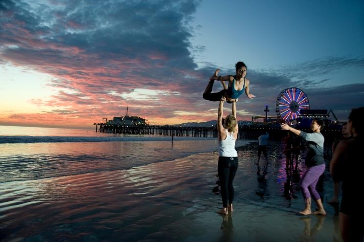 Beach Scene, Santa Monica Pier, 2014