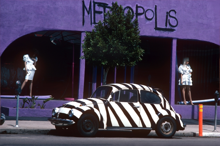 Metropolis Clothing Store with Volkswagen,West Hollywood, 1983